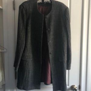 Beautiful  textured blazer. Large. Wool and silk.